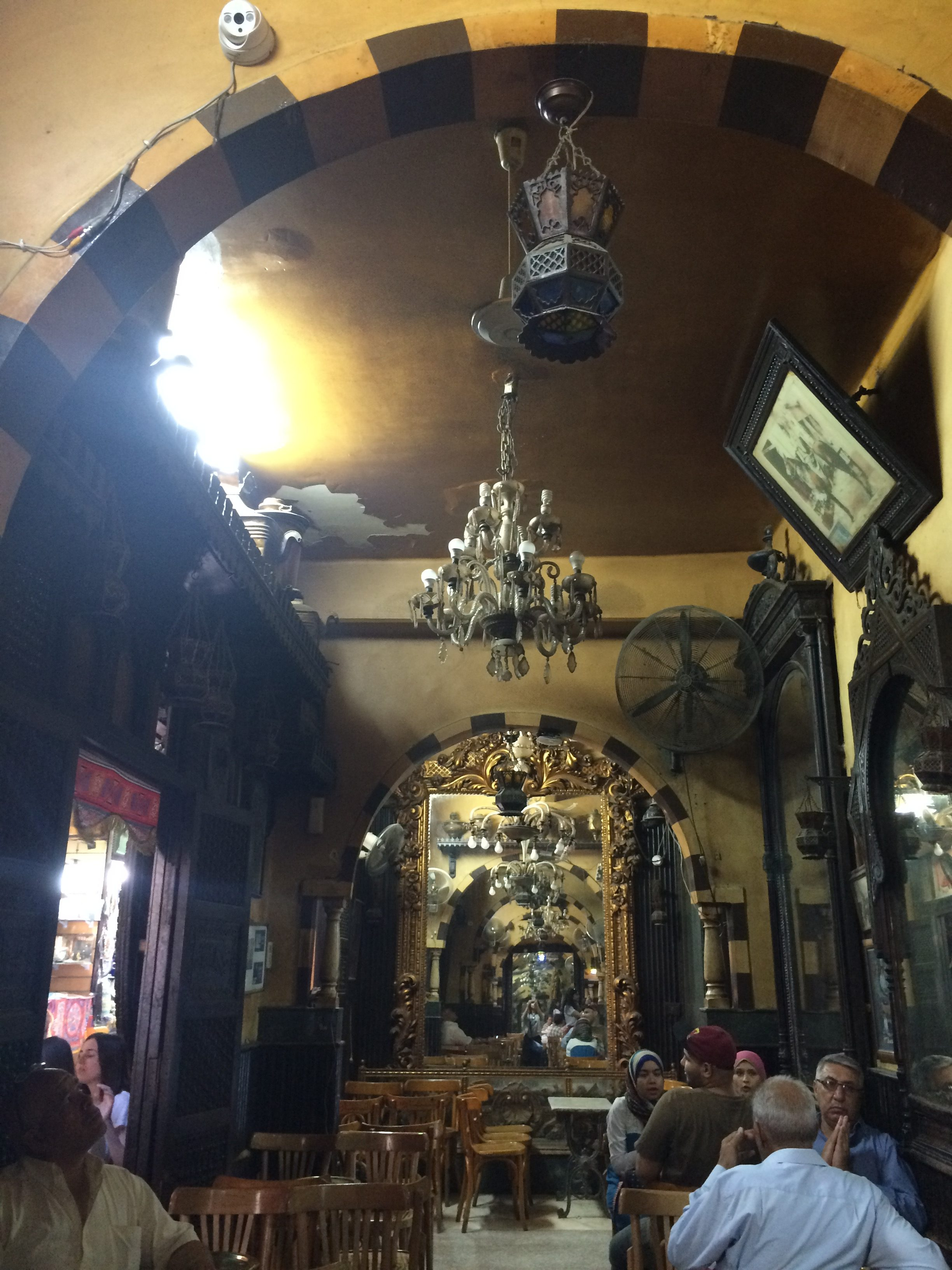 tea shop Cairo market Egypt