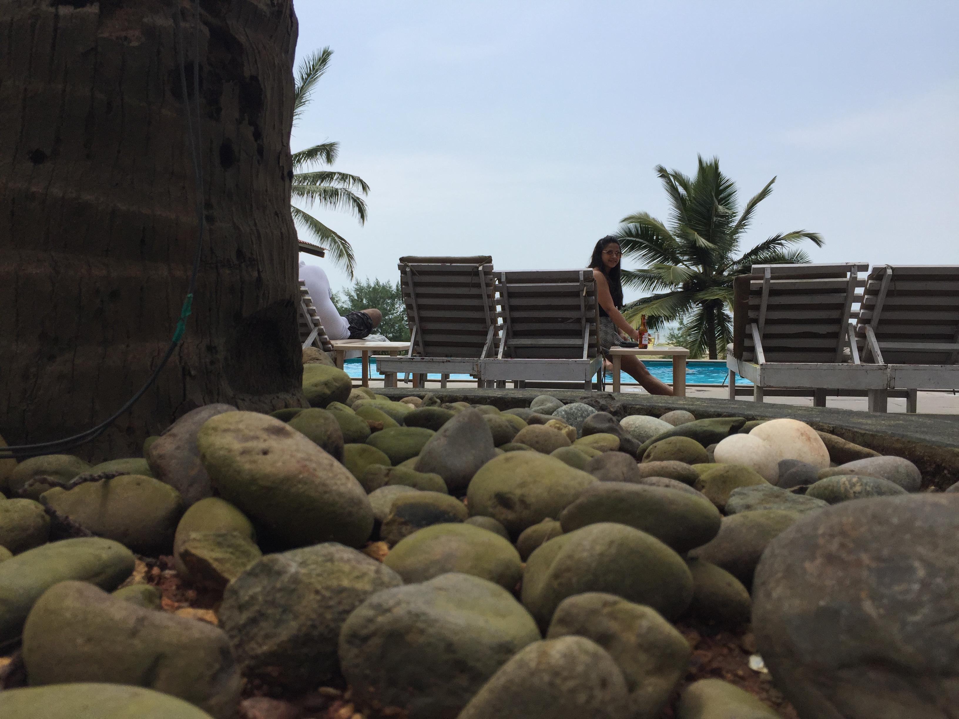 pool side chilling goan