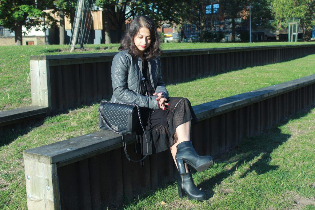 Bohemian Black Maxi Dress #OOTD