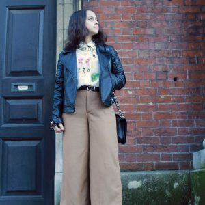 Culottes and a silk shirt