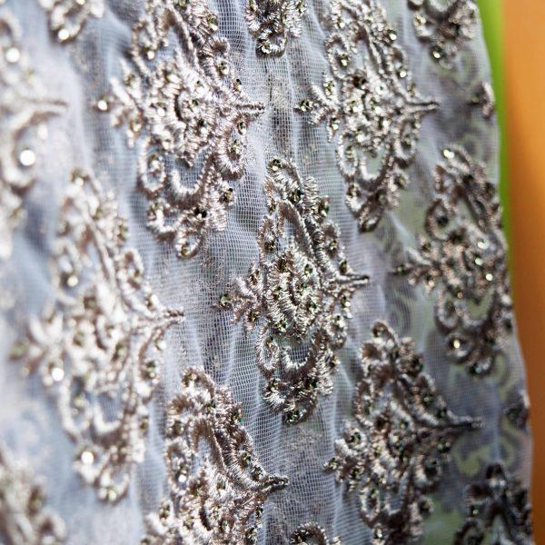 Aqua Blue Georgette Sari - Fashion and Frappes