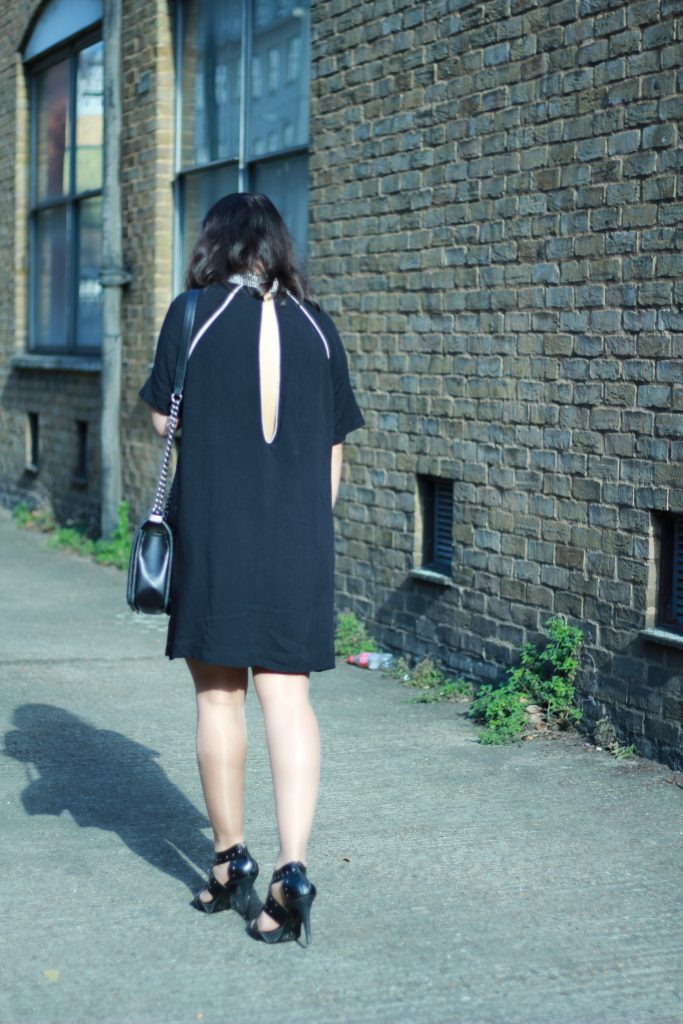 Showing skin backless