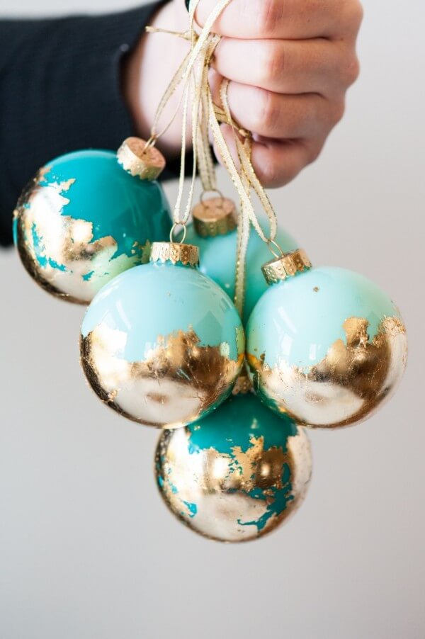 DIY-Gold-Leaf-Painted-Ornaments-by-The-Sweetest-Occasion