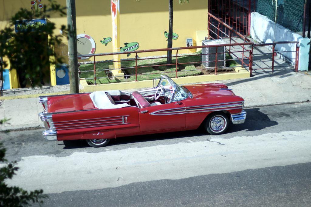 Red Vintage cars Classic cars in Havana