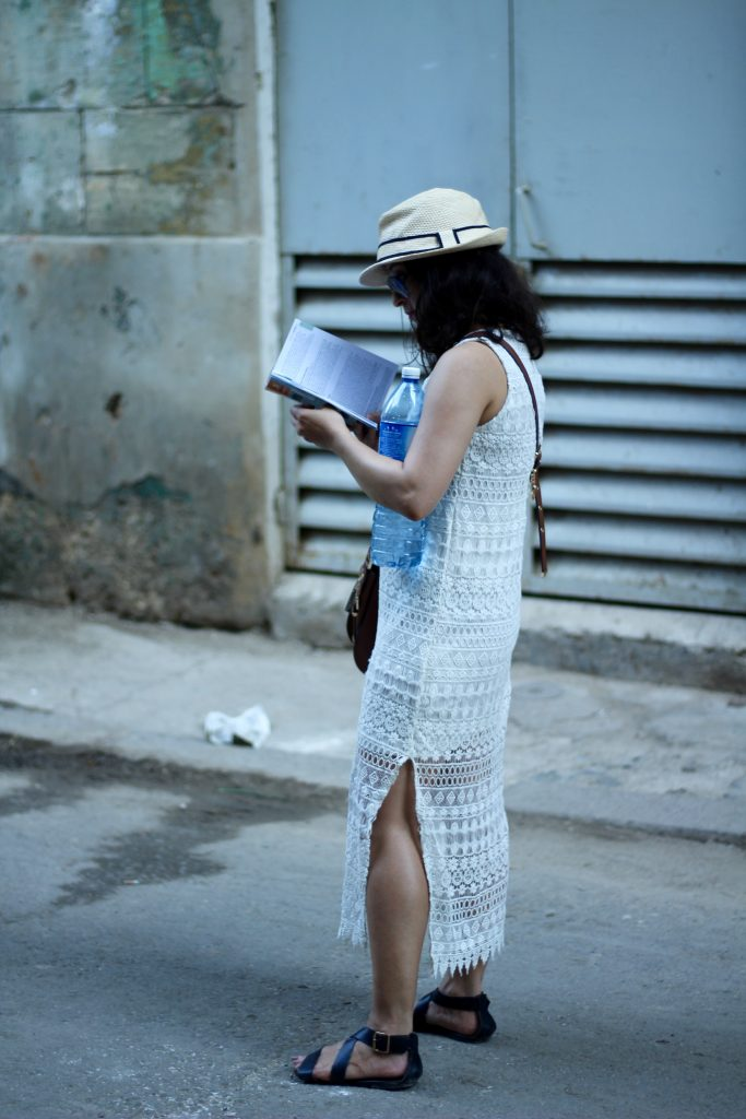 White crochet dress cuba havana