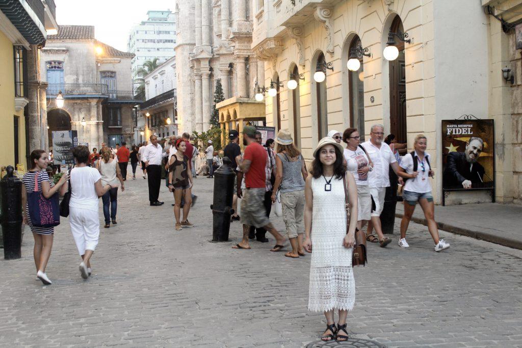 White crochet dress Cuba havana