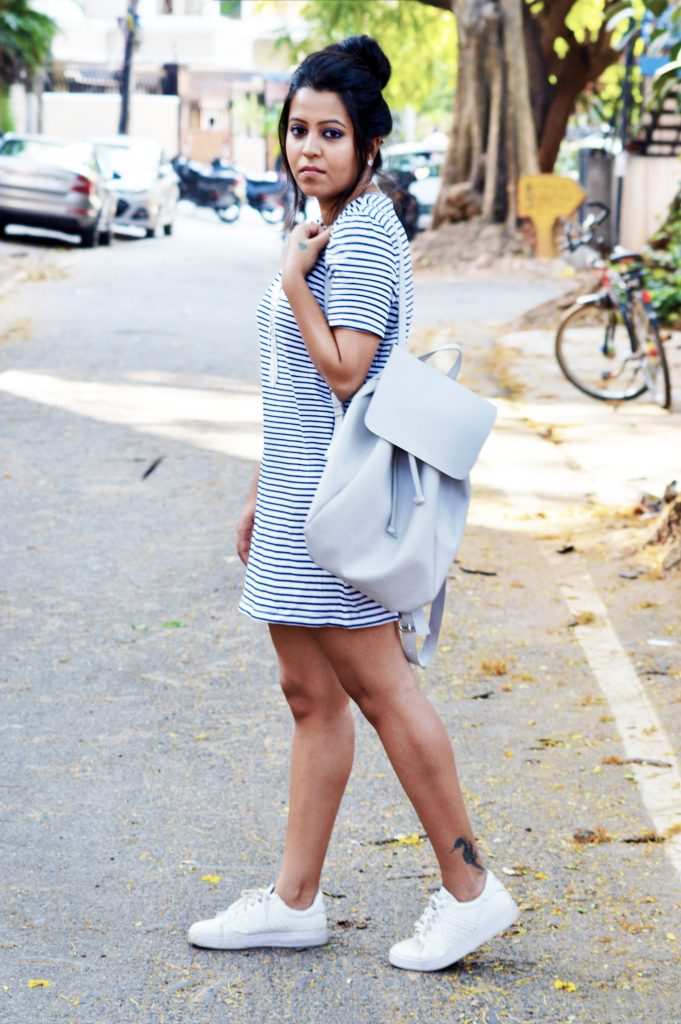 Summer outfit_tshirt dress_Fashion and Frappes