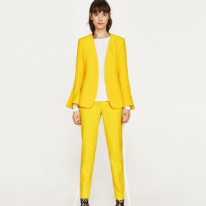 yellow suit Zara