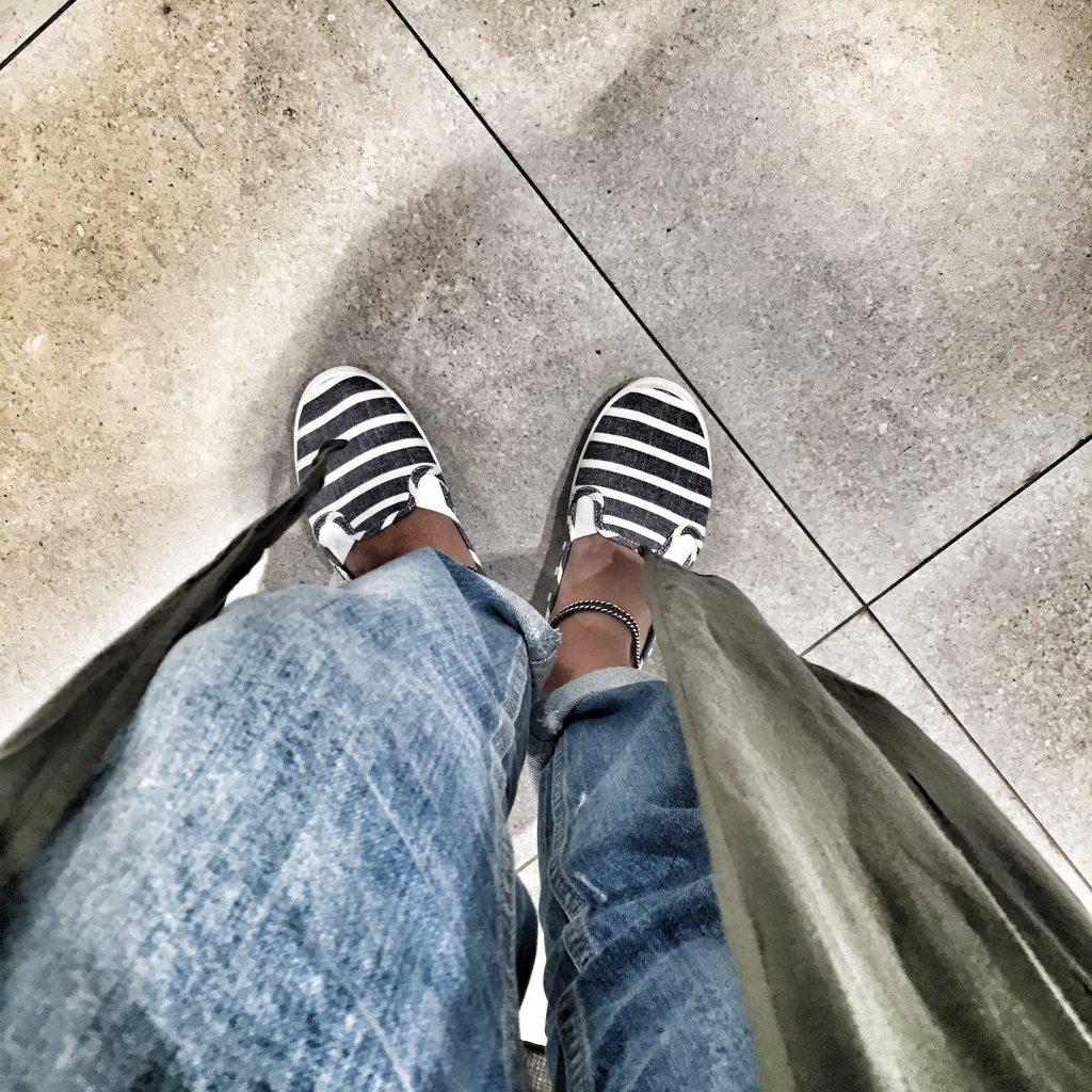 old treasure stripe shoe