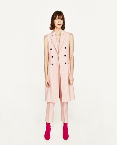 Pink suit Zara