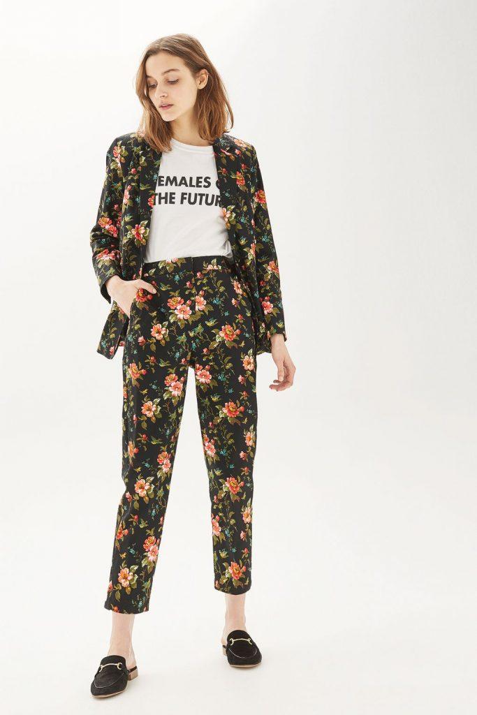 Topshop floral pant suit
