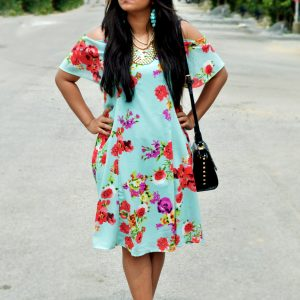 mint dress- fashion and frappes