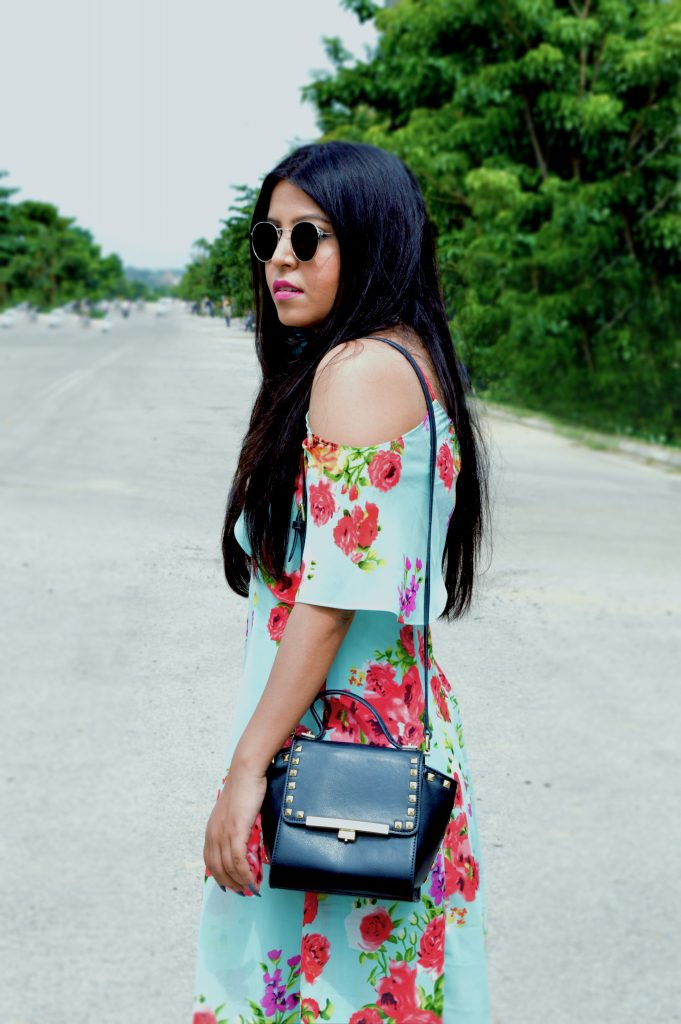 mint dress- cold shoulder- fashion and frappes