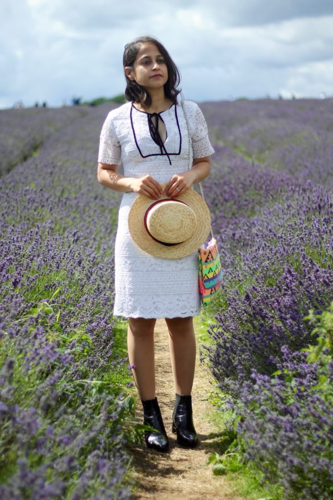 White lace dress mayfield lavender