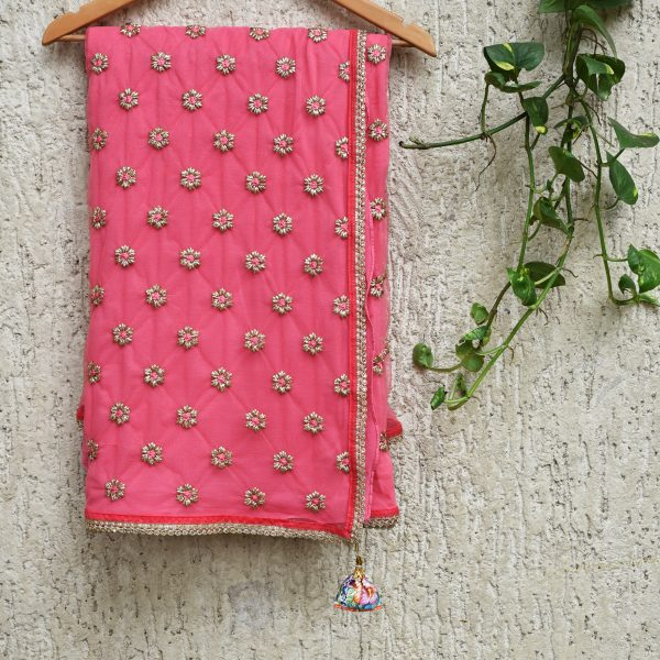 Pink and Gold sari - Zari by Fashion & Frappes