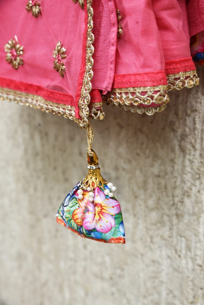 Pink and Gold sari - Zari by Fashion and Frappes