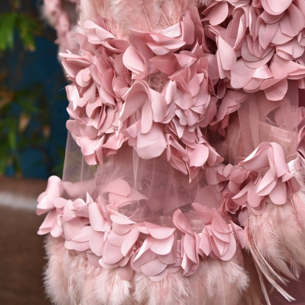 Pale Pink Feathers sari - Zari by Fashion & Frappes