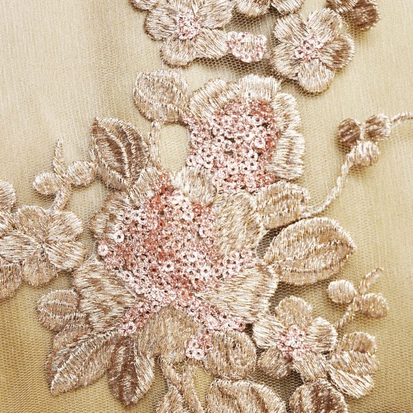 Rose Gold pink sequin sari - Zari by Fashion & Frappes