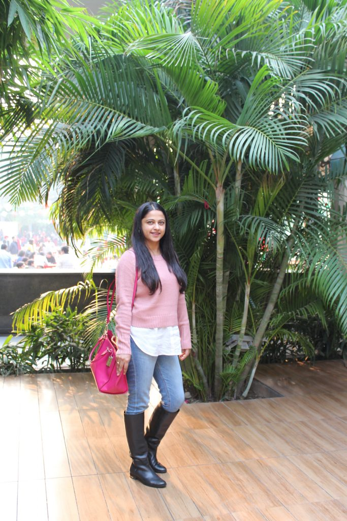 My Pink Sweater In Delhi Winter #OOTD