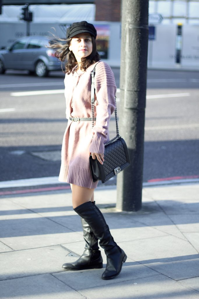 Sweater Dress tobi thigh boots