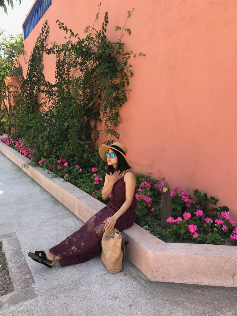 Tobi maxi dress Yves Saint Laurent museum Marrakech