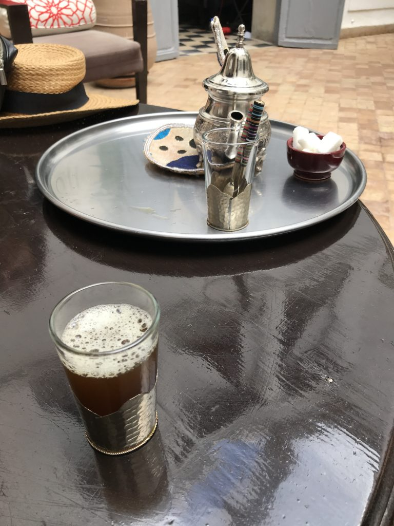 Riad Tizwa mint tea riads of Morocco