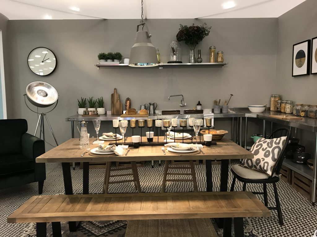 Kitchen table layout Ideal home show