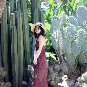 Tobi maxi dress Yves Saint Laurent museum Marrakech