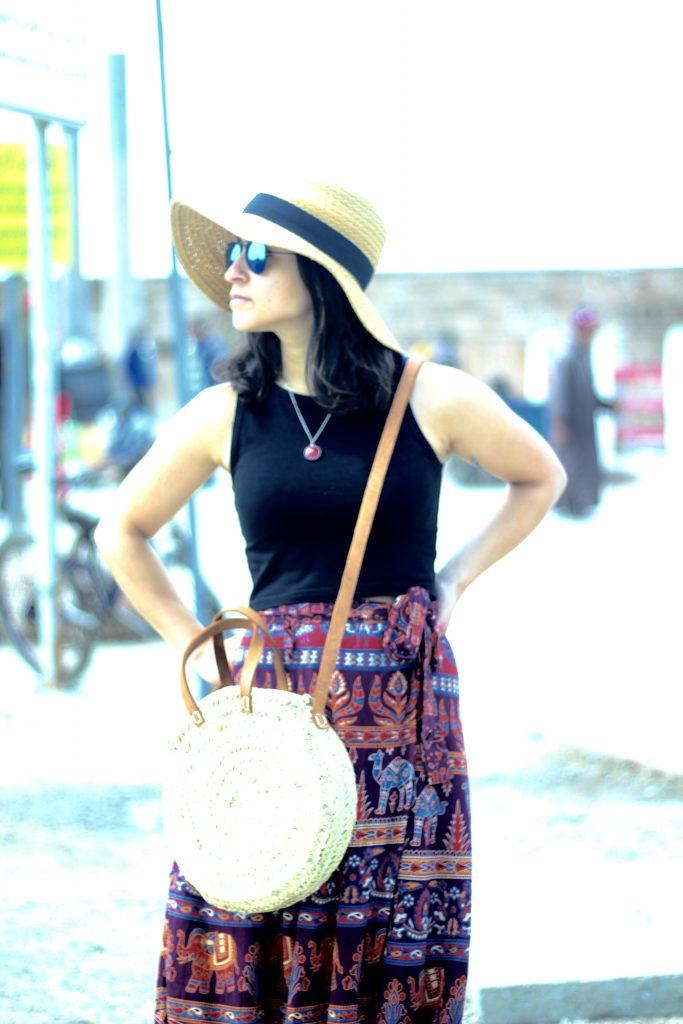 Port Essaouira boho skirt and cropped top