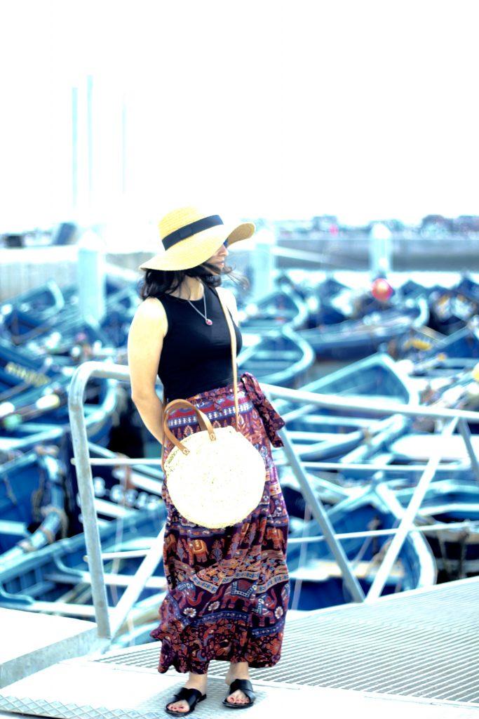 Port of Essaouira boho skirt