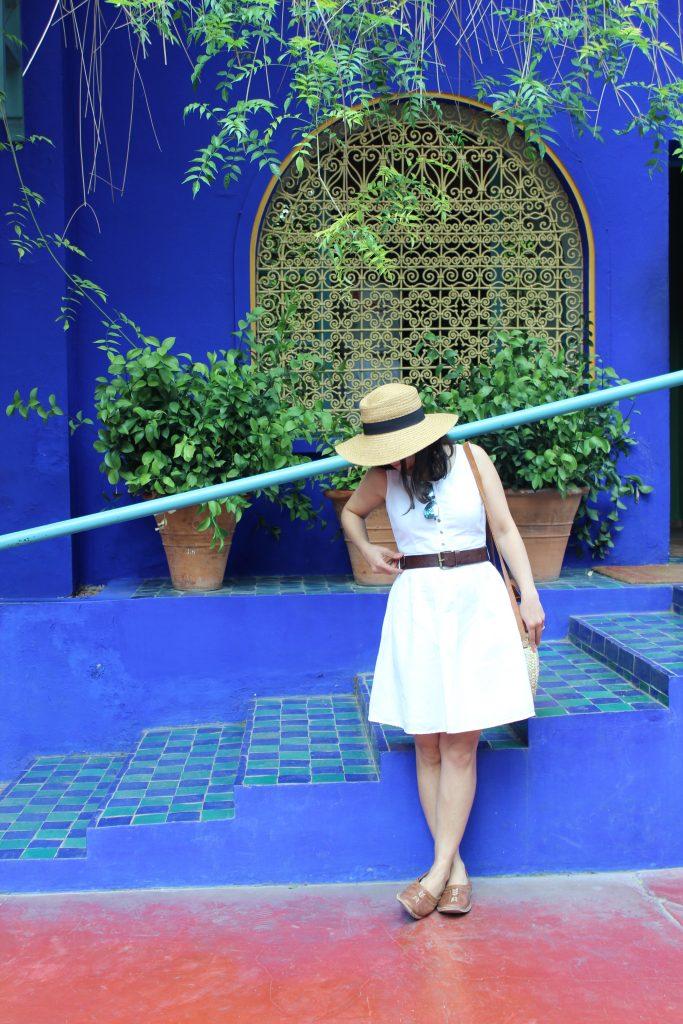 Majorelle Gardens White linen dress