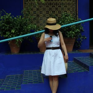 Majorelle Gardens White linen dress