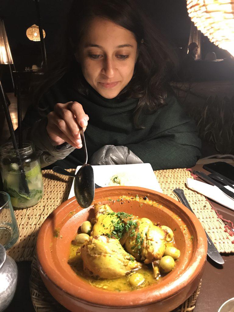 chicken tagine Terrasse des epices Marrakesh