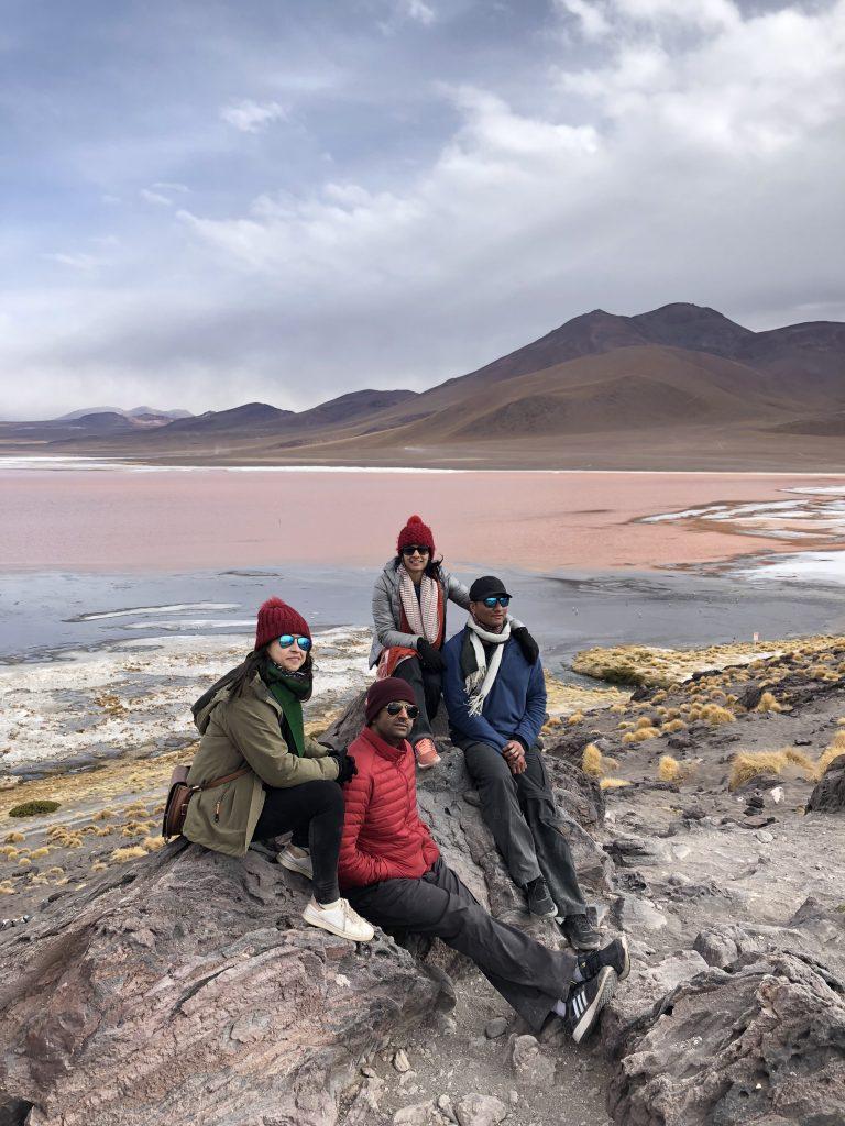 Salar de Uyuni, Pink lake, Bolivia