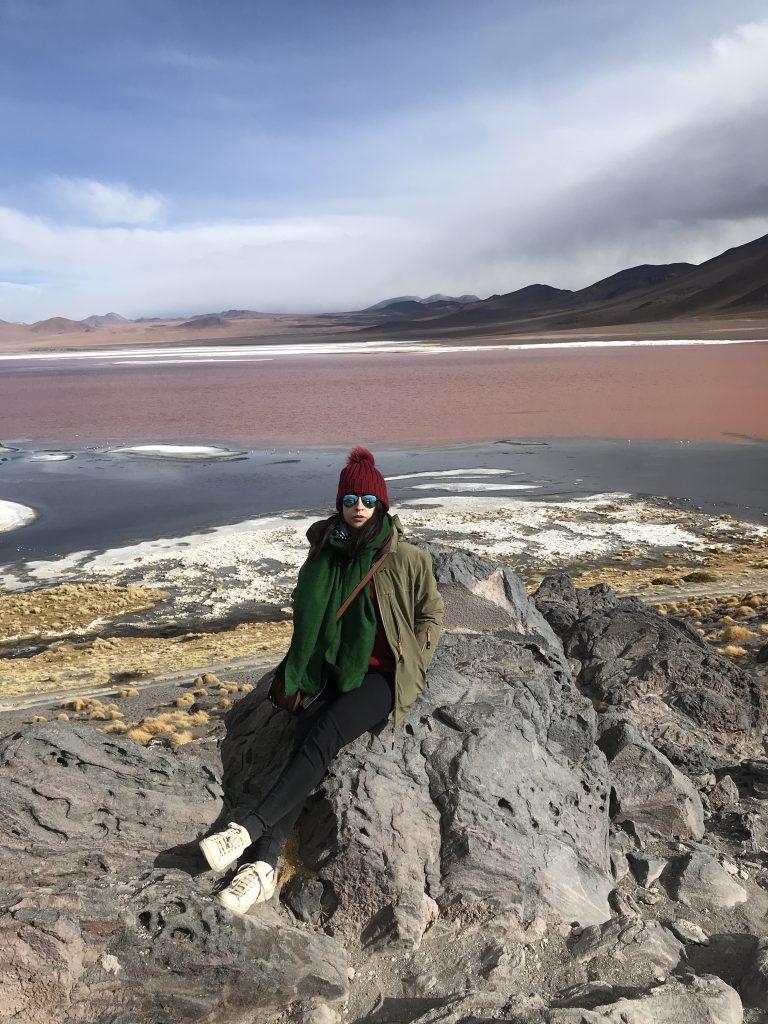 Pink lake, Salar de Uyuni, Bolivia