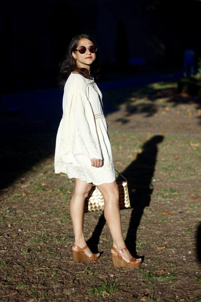 Beach dress white OOTD