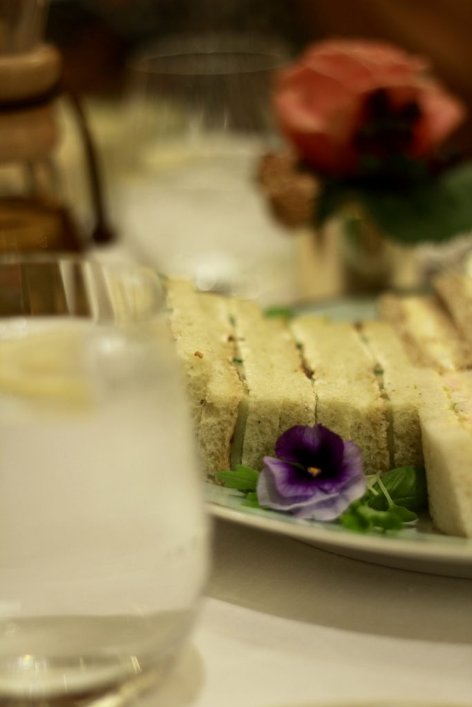 Sandwiches afternoon tea at The Dorchester Promenade London