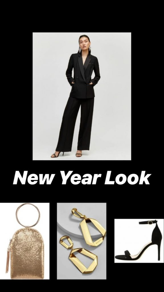 Androgynous New Years Eve Look