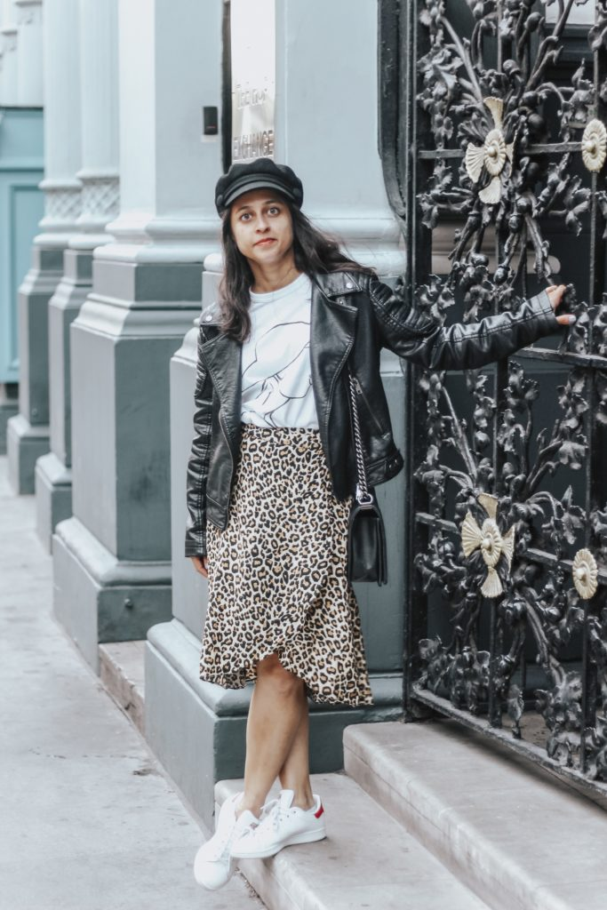 Leopard print skirt, new year
