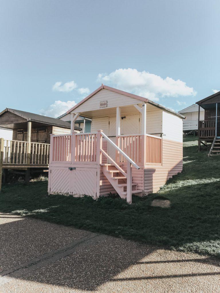 Herne Bay pink beach house