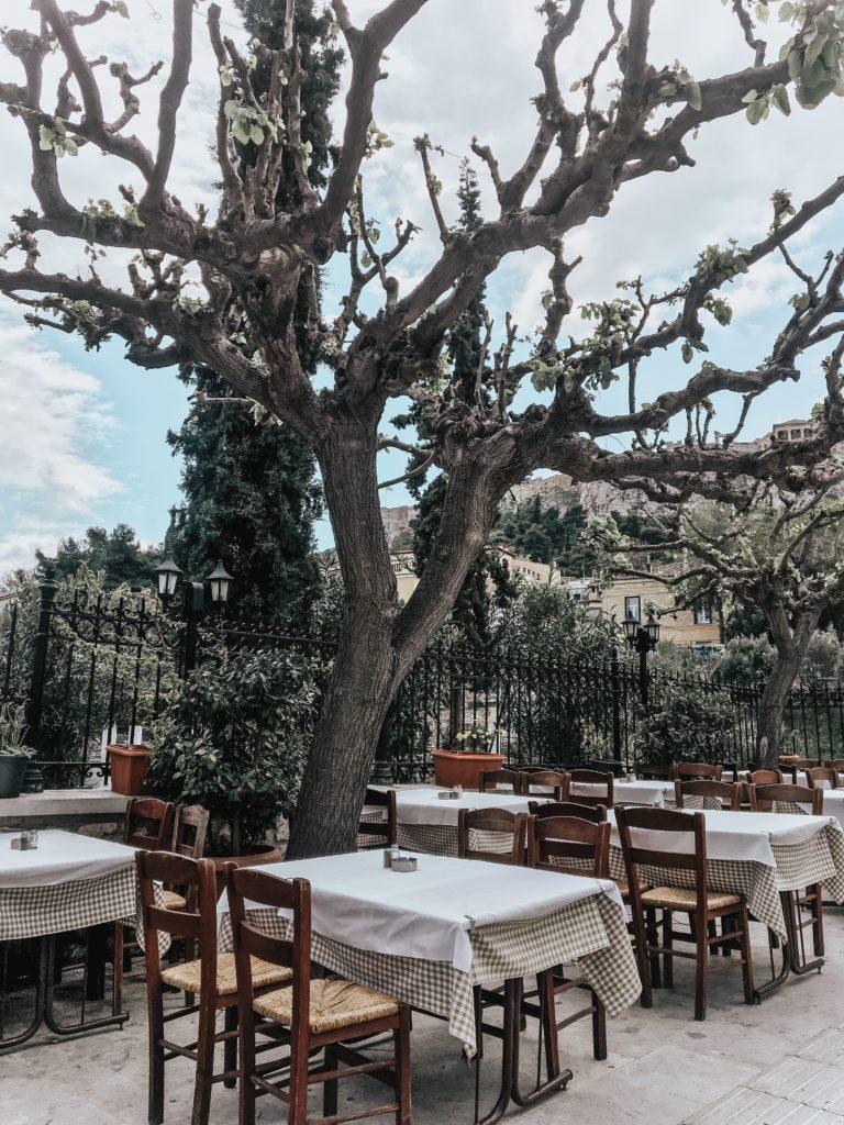 Restaurants near Acropolis Athens Greece