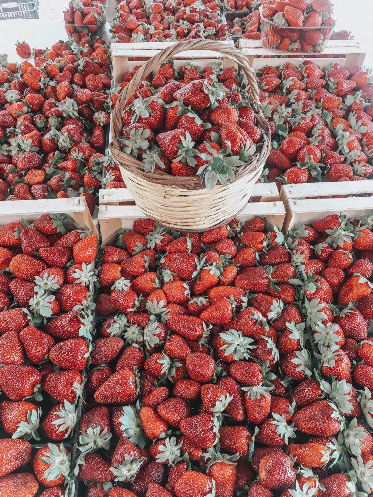 Strawberries Farmers Market Athens Greece