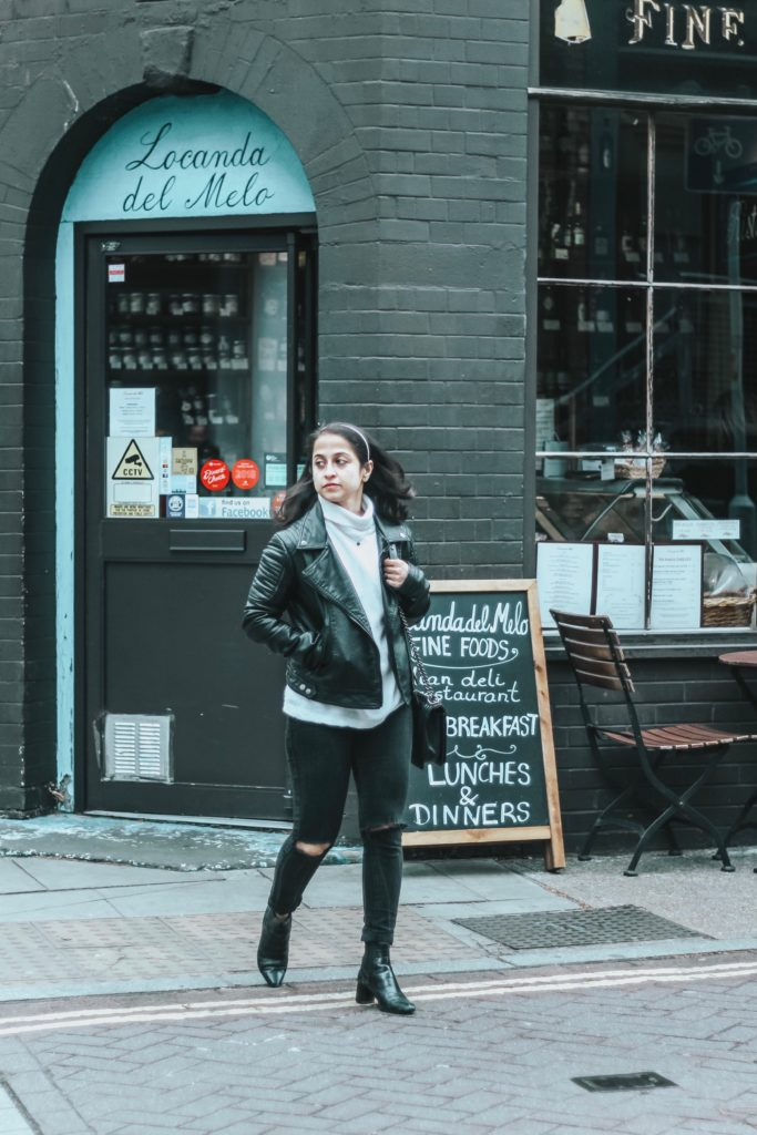 London Uniform #OOTD black leather jacket