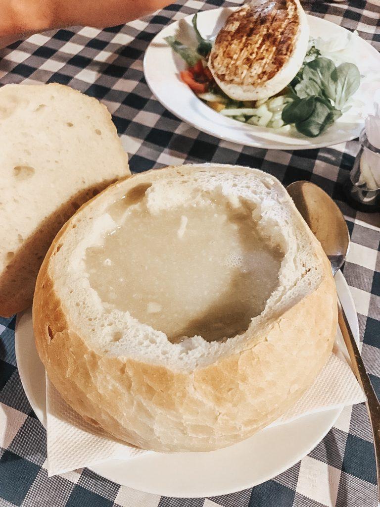 Potato soup Bratislava, Slovakia