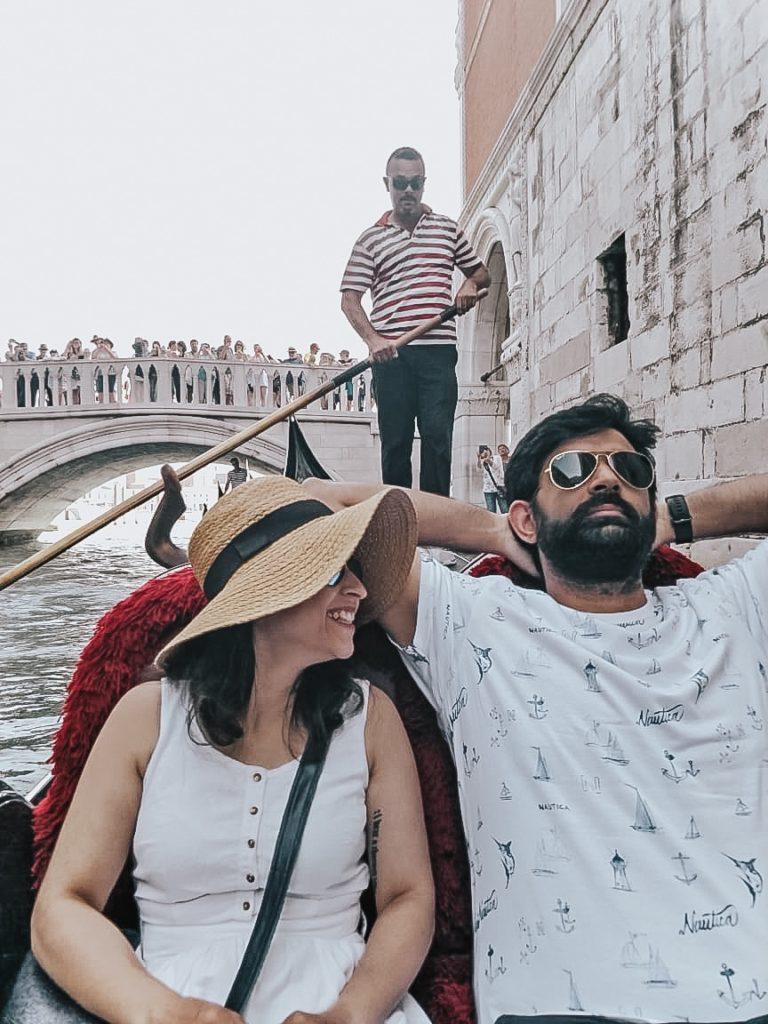 Gondolo ride, venice, Italy