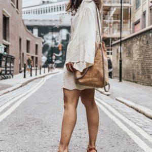 white babydoll style dress