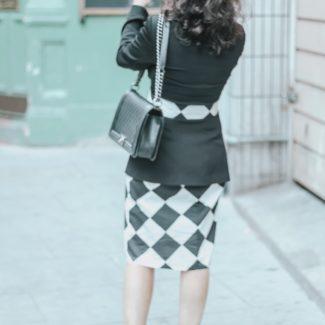 1 Dress 4 Outfits: Marimekko Black and White Pattern Dress