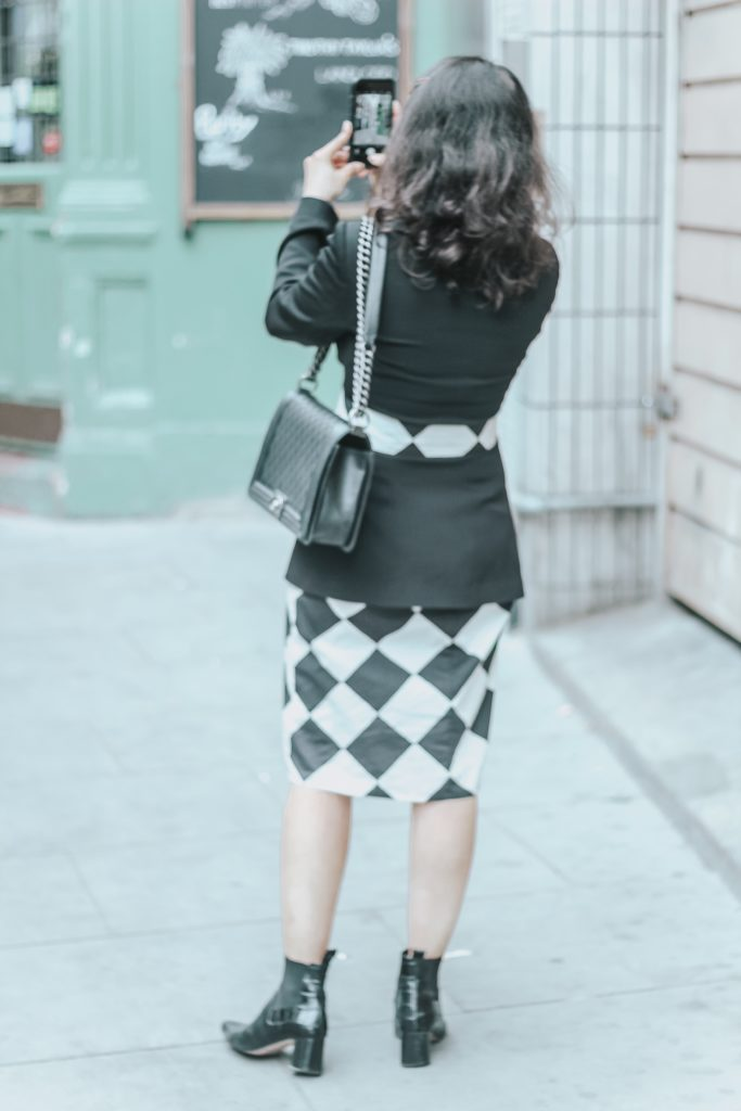 1 Dress 4 Outfits: Marimekko Black and White Pattern Dress