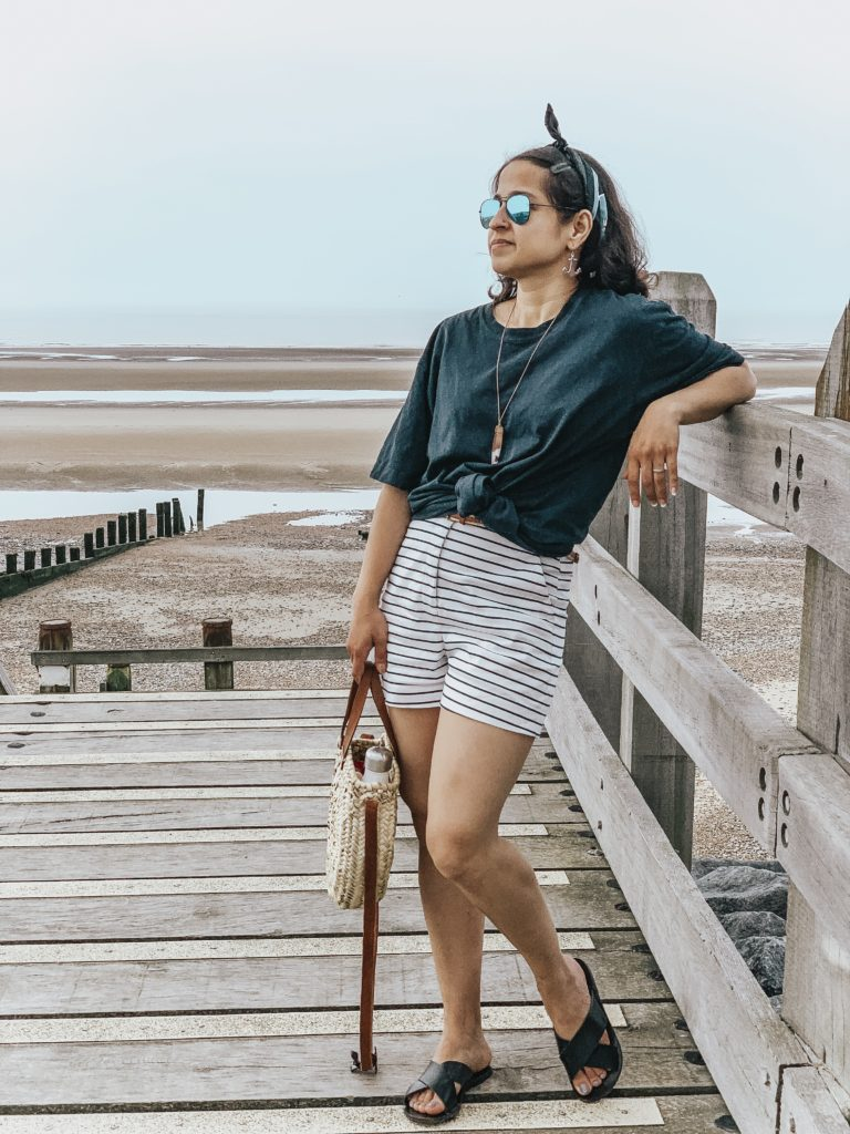 Camber Sands Beach, nautical outfit