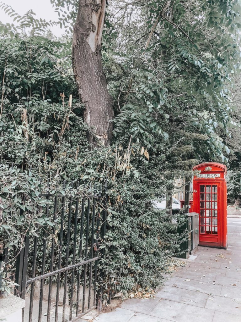 Love living in London red telephone booth